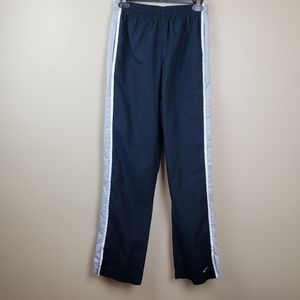Nike Navy w/blue and white stripe track pants
